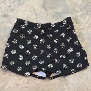 Abercrombie & Fitch black scuba skort skirt shorts